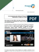 Les programmes des chaînes de France Télévisions disponibles en replay sur la Bbox