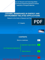 Ceramic Membranes in Energy And
