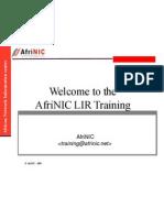 Afrinic Training