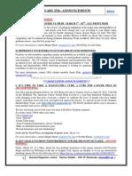 GSA Announcements Feb 27th 2012