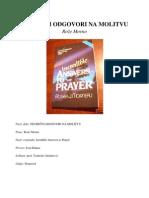 Nevjerovatni Odgovori Na Molitvu