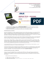 Asus Notebook EEEPAD TF101 + Docking 90OK06W2101210Y