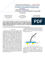 Optimal Control of Double Inverted Pendulum Using LQR Controller