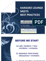 Karoke Lounge Meets Best Practices to Publish