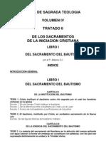 Teología Vol IV Tratado II Lib I Bautismo