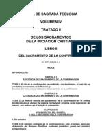 Teología Vol IV Tratado II Lib II Confirmación