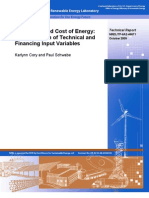 NREL Wind Levelized Cost of Energy - A Comparison of Technical and Financing Input Variables (2009)