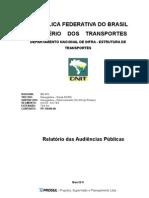 Relatório Audiência Pública - Blumenau-Navegantes