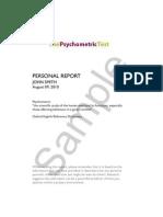 Psycho Metric Sample