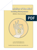 Buddhist Meditation Contemplation of the Mind