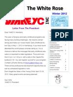 YAAEYC Winter Newsletter 2012 Final