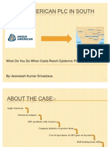 anglo american plc in south africa case study