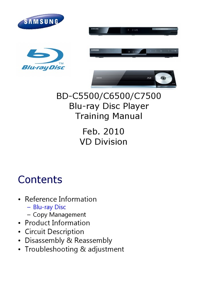 samsung bd c5500 c6500 c7500 blu ray training manual 2010 blu ray rh es scribd com samsung blu ray bd e5500 manual samsung blu ray bd-d5500 manual