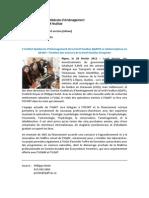 Communiqué_Annonce ISFORT