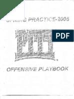2005PittPanthersSpringOffense