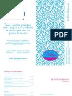 Philippe pastelería light - carta