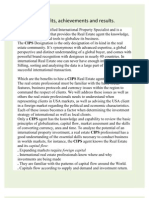 CIPS Benefits