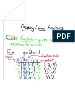 Graphing Linear