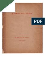 Bulletin de L'Étoile N°1 Janvier-Février 1932 par J. Krishnamurti