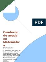 Cuaderno de Matemáticas - Adultos