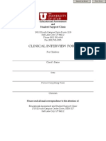 Child Clinical Interview Form Online