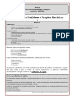 Funções Sintáticas II - Predicativo do Sujeito