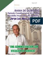 Programa de Gobierno Para Fredonia