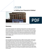 Greece Crisis Shifting From Financial to Political