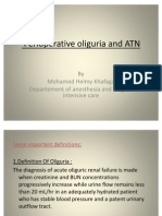 (2) Perioperative Oliguria and ATN