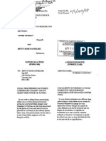 April 21, 2009, Filing of NOTICE OF ACTION FORM 16B to Enforce Mechanics Lien Claim against property located at Fredericton, New Brunswick, Canada.