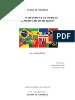 relatório Ação de formação acordo ortográfico