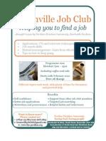 Job Club Flyer A4 Poster Map