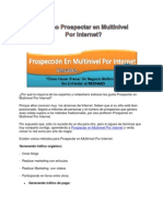 Como Pro Spec Tar en Multinivel Por Internet