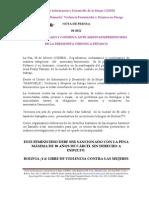 REPUDIO, RECHAZO Y CONDENA ANTE ASESINATO/FEMINICIDIO DE LA PERIODISTA VERÓNICA PEÑASCO