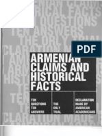 Armenian Claims and Historical Facts