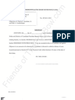 PA - 2012-08-28 - KERCHNER - Obama Motion to Strike and Dismiss Tfb
