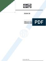 NBR 33 ABNT ISO GUIA 33 - Utilizacao de Materiais de Refer en CIA Certificados