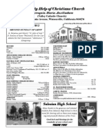 Parish Bulletin for March 4, 2012