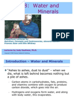 Lecture Water and Minerals