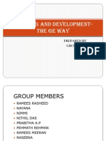 Training and Development- The Ge Way Ppt