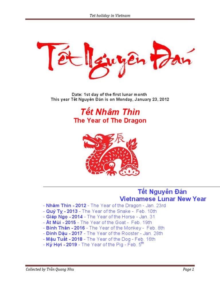 tet holiday in vietnam essay