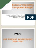 Shelton Board of Education Budget Presentation