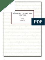 Mandatory and Directory Statutes