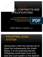 Introduction to CE Laws, Contracts and Specifications