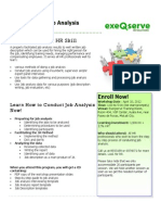 Job Analysis Workshop - April 10, 2012