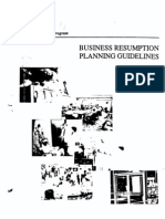 OES State of California - Business Resumption Planning Guidelines