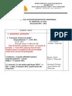Graficul Activit Ed Pe Sem II 2011- 2012