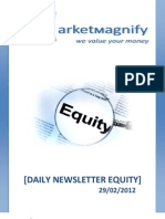 Daily Stock Report by Market Magnify 29-02-2012