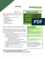 Effective Interviewing Techniques – April 27, 2012