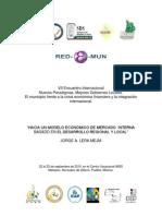"""""""Hacia un modelo económico de mercado interno (ISBN"""